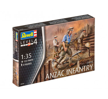 Anzac Infantary 1915 (Australian and New Zealand Army Corps) - 1/35 - Revell 2618