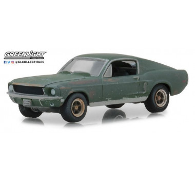 Greenlight GRE13523 Unrestored 1968 Ford Mustang GT Fastback - 2018 Detroit Auto Show - Steve McQueen Collection