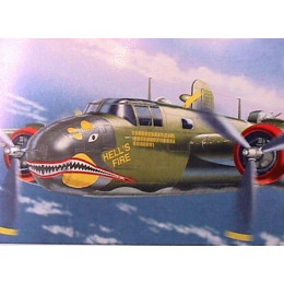Avião B-25D Mitchell Hell's Fire Franklin Mint 1:48 B11B315