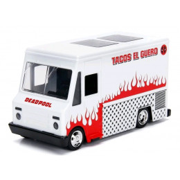 Miniatura de Carro Deadpool Taco Truck El Gueros J 1:32 HollyWood Rides