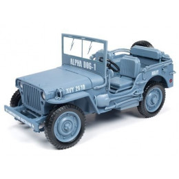 1941 WWII Willys MB Army Jeep Navy 1:18 Diecast AWML001/12B