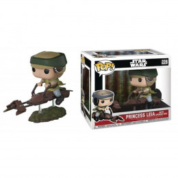 Boneco Star Wars Princess Leia With Speeder Bike Pop Funko 228 Suika