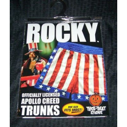 Apollo Creed Rocky IV Boxing Shorts Trunks Licensed Trick or Treat Studios